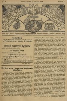 Przegląd Graficzny : Organ Związku Zakładów Graficznych i Wydawniczych na Polskę Zachodnią z siedzibą w Poznaniu. R. 4, 1923, nr4