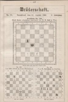 Die Brüderschaft. Jg. 2, 1886, No34