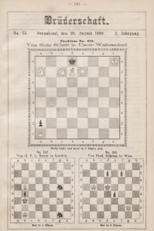 Die Brüderschaft. Jg. 2, 1886, No35