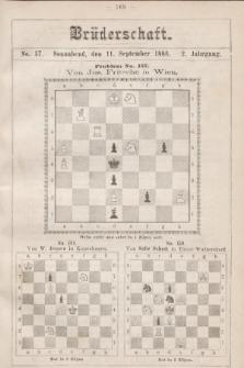Die Brüderschaft. Jg. 2, 1886, No37