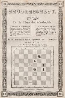 Die Brüderschaft : Organ für die Pflege des Schachspiels. Jg. 2, 1886, No39