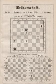Die Brüderschaft. Jg. 2, 1886, No40