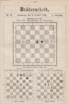 Die Brüderschaft. Jg. 2, 1886, No41