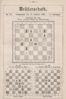 Die Brüderschaft. Jg. 2, 1886, No42
