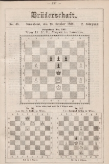 Die Brüderschaft. Jg. 2, 1886, No43
