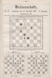 Die Brüderschaft. Jg. 2, 1886, No47