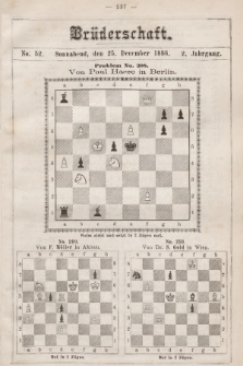 Die Brüderschaft. Jg. 2, 1886, No52