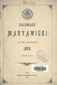 Kalendarz Maryawicki na rok zwyczajny 1909