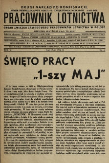 Pracownik Lotnictwa : organ Związku Zawodowego Pracowników Lotnictwa w Polsce. 1936, nr6