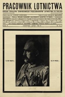 Pracownik Lotnictwa : organ Związku Zawodowego Pracowników Lotnictwa w Polsce. 1935, nr6-7