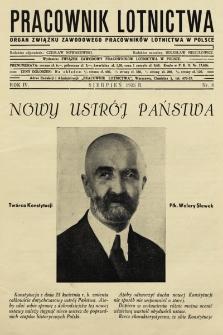 Pracownik Lotnictwa : organ Związku Zawodowego Pracowników Lotnictwa w Polsce. 1935, nr8