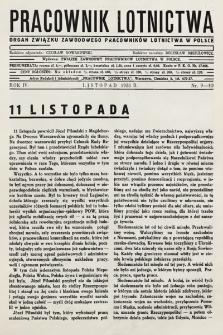 Pracownik Lotnictwa : organ Związku Zawodowego Pracowników Lotnictwa w Polsce. 1935, nr9-10
