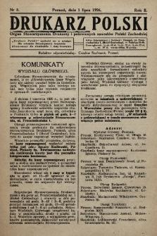 Drukarz Polski : organ Stowarzyszenia Drukarzy i pokrewnych zawodów Polski Zachodniej. 1926, nr8