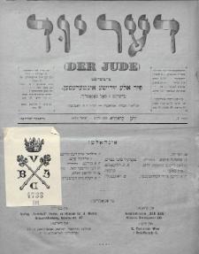 Der Jude. 1899, nr1