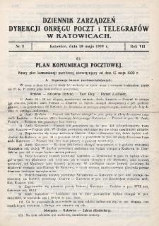 Dziennik Zarządzeń Dyrekcji Okręgu Poczt i Telegrafów w Katowicach. 1939, nr3