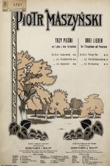 Trzy pieśni : na 1 głos z tow. fortepianu. Op. 58 no 2, W pogodną nockę