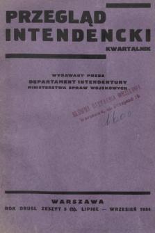 Przegląd Intendencki : kwartalnk wydawany przez Departament Intendentury Ministerstwa Spraw Wojskowych. 1934, nr3