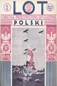 Lot i Obrona Przeciwlotniczo-Gazowa Polski. 1934, nr6