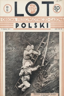 Lot i Obrona Przeciwlotniczo-Gazowa Polski. 1934, nr8