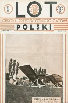 Lot i Obrona Przeciwlotniczo-Gazowa Polski. 1934, nr11