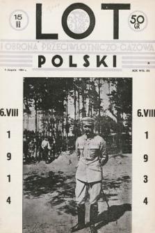 Lot i Obrona Przeciwlotniczo-Gazowa Polski. 1934, nr15