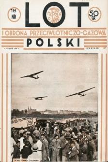Lot i Obrona Przeciwlotniczo-Gazowa Polski. 1934, nr18