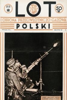 Lot i Obrona Przeciwlotniczo-Gazowa Polski. 1934, nr23