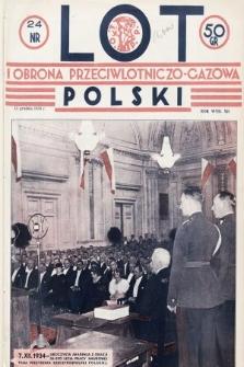 Lot i Obrona Przeciwlotniczo-Gazowa Polski. 1934, nr24