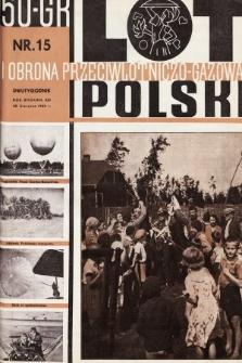 Lot i Obrona Przeciwlotniczo-Gazowa Polski. 1935, nr15