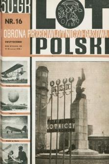 Lot i Obrona Przeciwlotniczo-Gazowa Polski. 1935, nr16