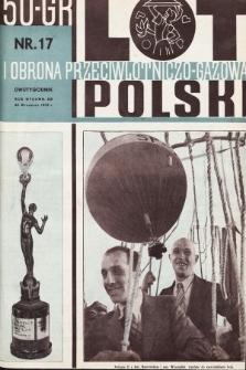 Lot i Obrona Przeciwlotniczo-Gazowa Polski. 1935, nr17