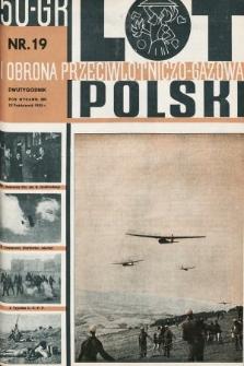 Lot i Obrona Przeciwlotniczo-Gazowa Polski. 1935, nr19