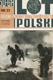 Lot i Obrona Przeciwlotniczo-Gazowa Polski. 1935, nr22
