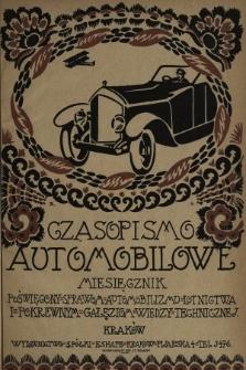 Czasopismo Automobilowe : miesięcznik poświęcony sprawom automobilizmu, lotnictwa i pokrewnym gałęziom wiedzy technicznej. 1920, nr2