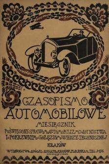 Czasopismo Automobilowe : miesięcznik poświęcony sprawom automobilizmu, lotnictwa i pokrewnym gałęziom wiedzy technicznej. 1920, nr4