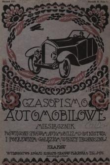 Czasopismo Automobilowe : miesięcznik poświęcony sprawom automobilizmu, lotnictwa i pokrewnym gałęziom wiedzy technicznej. 1921, nr1