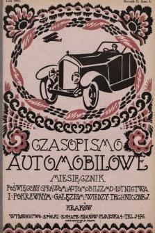 Czasopismo Automobilowe : miesięcznik poświęcony sprawom automobilizmu, lotnictwa i pokrewnym gałęziom wiedzy technicznej. 1921, nr2