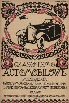Czasopismo Automobilowe : miesięcznik poświęcony sprawom automobilizmu, lotnictwa i pokrewnym gałęziom wiedzy technicznej. 1921, nr3