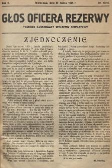 Głos Oficera Rezerwy : tygodnik ilustrowany społeczny bezpartyjny. 1924, nr10/18