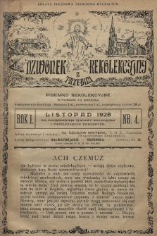 Dzwonek Rekolekcyjny z Trzebini : pisemko rekolekcyjne. 1928, nr4