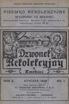 Dzwonek Rekolekcyjny z Trzebini : pisemko rekolekcyjne. 1929, nr1