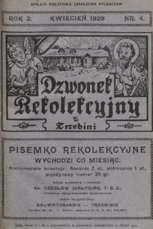 Dzwonek Rekolekcyjny z Trzebini : pisemko rekolekcyjne. 1929, nr4