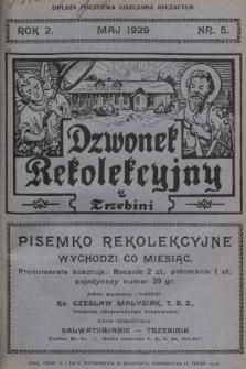 Dzwonek Rekolekcyjny z Trzebini : pisemko rekolekcyjne. 1929, nr5