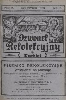 Dzwonek Rekolekcyjny z Trzebini : pisemko rekolekcyjne. 1929, nr6
