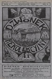 Dzwonek Rekolekcyjny z Trzebini : pisemko rekolekcyjne. 1929, nr9