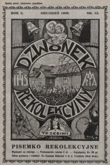 Dzwonek Rekolekcyjny z Trzebini : pisemko rekolekcyjne. 1929, nr12