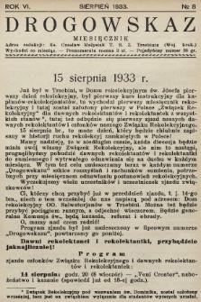 Drogowskaz : pismo rekolekcyjne z Trzebini. 1933, nr8