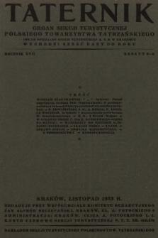 Taternik : organ Sekcji Turystycznej Polskiego Towarzystwa Tatrzańskiego : organ oficjalny Sekcji Taternickiej A. Z. S. w Krakowie. R. 17, 1933, nr5-6