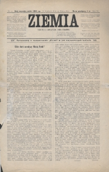 Ziemia : pismo ekonomiczno-społeczne, rolnicze i handlowe. 1897, nr5