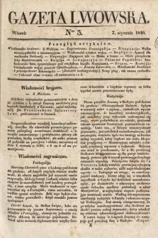 Gazeta Lwowska. 1840, nr 3